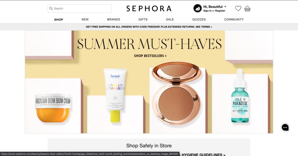 Sephora USA, Inc.「SEPHORA」