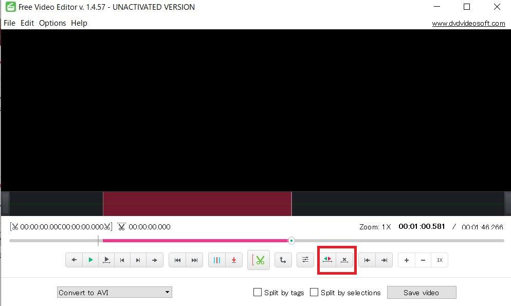 Free Video Editor カット