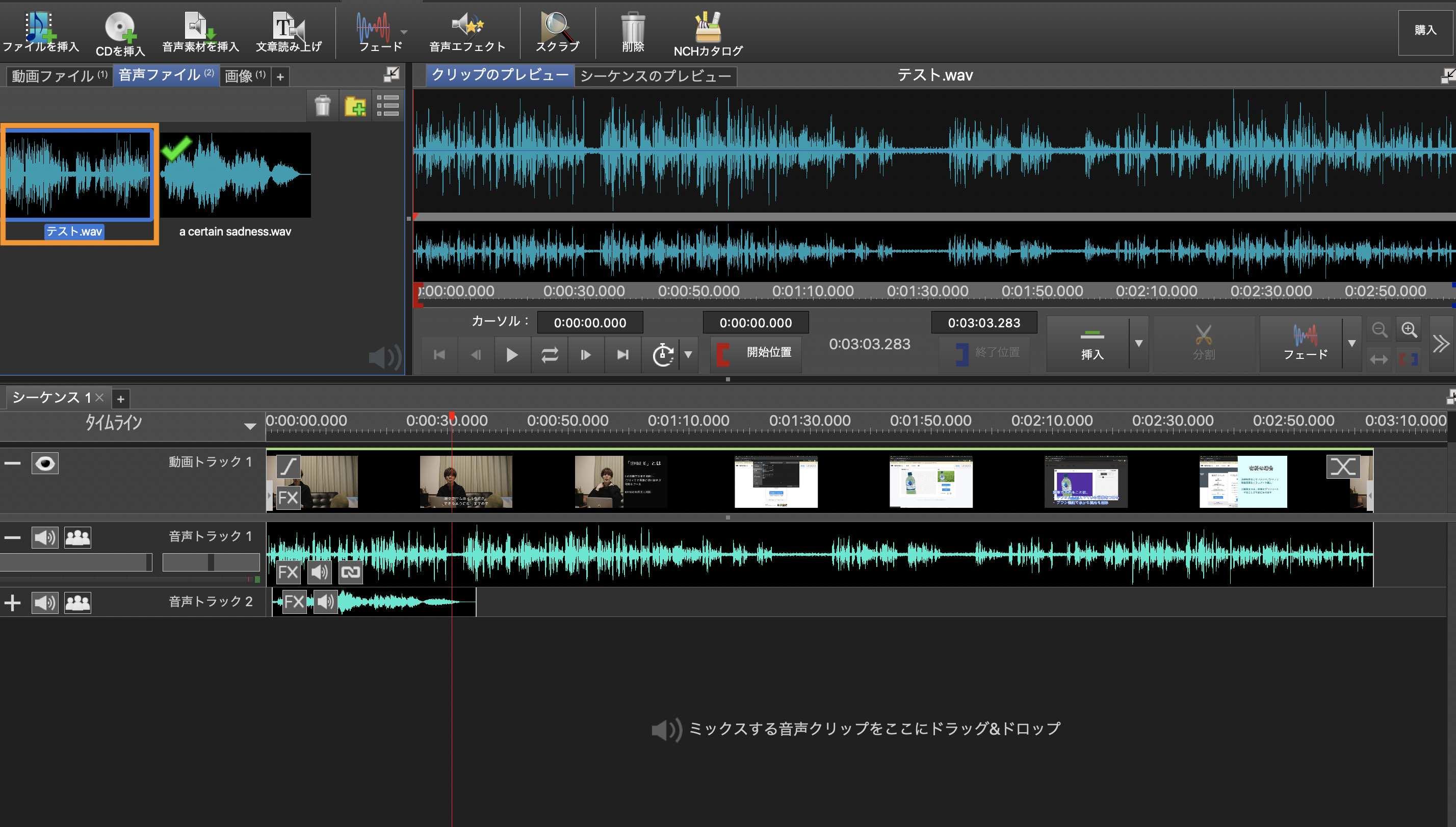 音声ファイルの抽出
