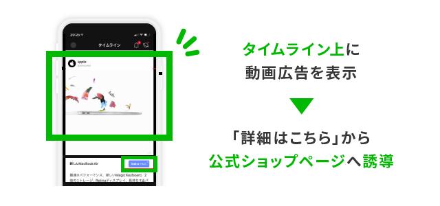 AppleのLINE動画広告事例